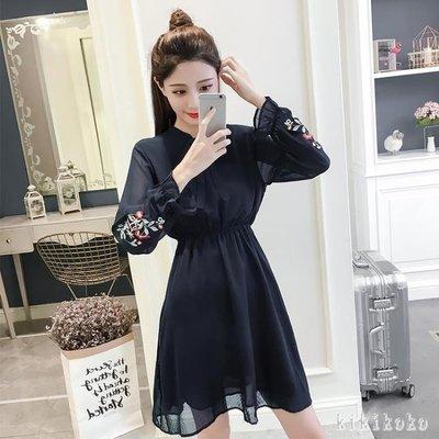 中大尺碼雪紡洋裝 2019春裝新款韓版...