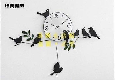 [王哥廠家直销]正品福特斯鳥客廳鐘錶鐵藝小鳥掛鐘超靜音創意個性掛表田園表LeGou_118_118