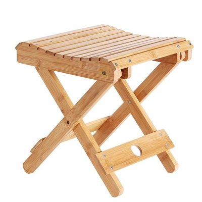 促銷款餐椅 折疊凳子便攜式家用實木馬扎戶外釣魚椅小板凳小凳子方凳