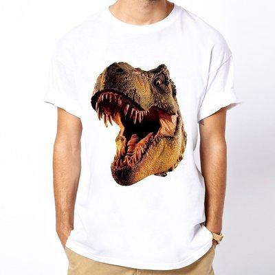 T-Rex Head短袖T恤白色 暴龍恐龍電影侏羅紀世界侏儸紀公園Jurassic t $390 美國版型