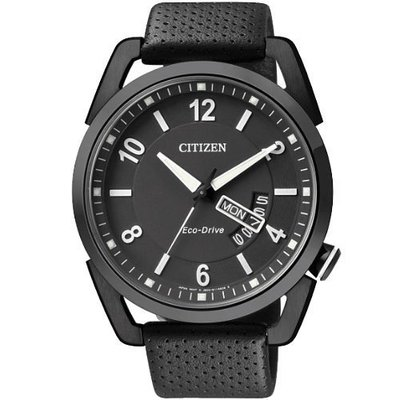 CITIZEN Eco-Drive 歐風光動能腕錶(AW0015-08E)-IP黑/ 42mm 新北市