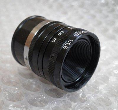 攝影機鏡頭/監視器/CCTV鏡頭/手動、自動變焦/攝像機/CANON/1:1.6/16mm攝影機鏡頭