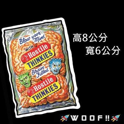 WooF!! #防水貼紙 潮流貼紙 惡搞食物hostile thinkies 潮牌崩壞 行李箱貼 車貼 個性貼紙 PVC
