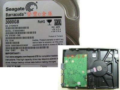 【登豐e倉庫】 F104 Seagate ST3000DM001 3TB SATA3 救資料 檔案救援 系統救援