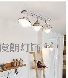 {美學}韓式簡約吸頂燈書房燈吧台燈過道燈陽台吸頂燈裝修3頭MX-2054