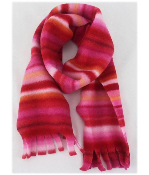 【卡漫迷】 兒童圍巾 圍脖 漸層 粉色 紅色  不織布絨毛   110*15cm