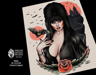 GOODFORIT /美國Parlor Tattoo Prints刺青簽名畫作/銷魂天師(含框)