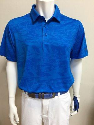 100%正品美國UNDER AMOUR Elevated Heather當季最新快速排汗高爾夫POLO衫 藍格/深藍底