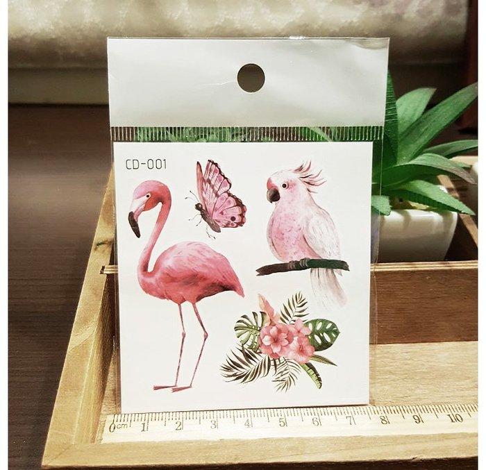 【萌古屋】火鶴鸚鵡CD-001 - 防水紋身貼紙刺青貼紙K12