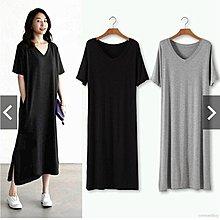 ✿ 吉米花 ✿ C-01119 V領寬鬆側口袋顯瘦連衣裙 ( 5色 F ) 全碼 現貨+預購