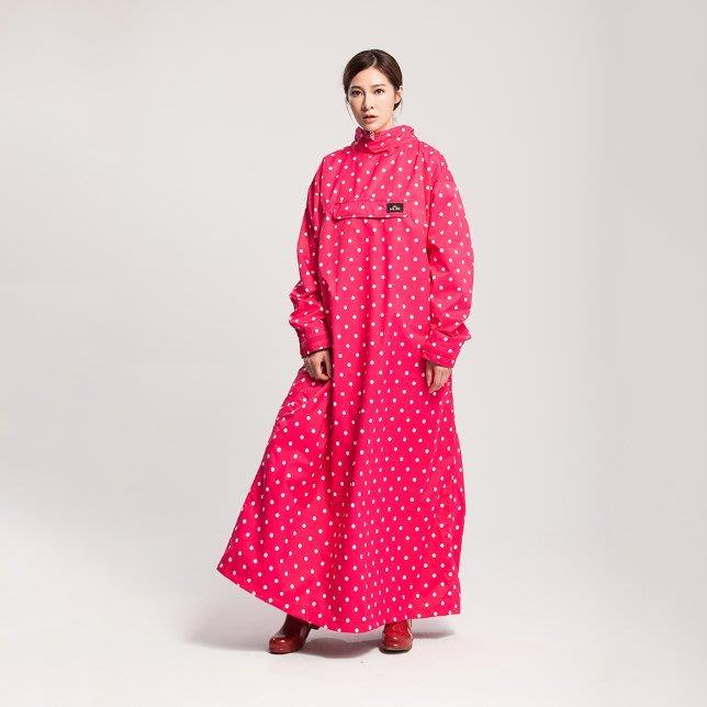 【山野賣客】MORR PostPosi反穿雨衣-水玉桃 ND1101-20 磁釦快速穿脫 斗篷 雨披