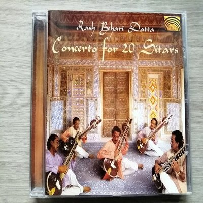 經典【原版CD】西搭琴大師演奏專輯 Concerto for 20 Sitars - Rash Behari Datta