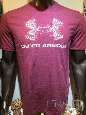 -滿3000免運-【戶外風】UNDER ARMOUR 男子 HG S.S. Blow Out Logo短袖T恤