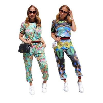 韓國麻豆家~SMR sexy digital printing sport suit two-piece outfit