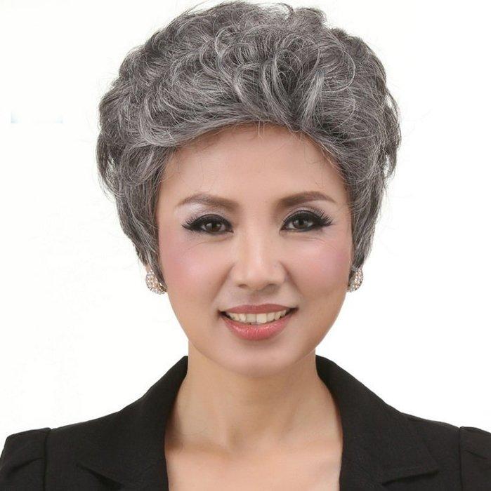 水媚兒假髮7M083♥新款女士假髮 中老年蓬鬆款 短微捲髮♥ 現貨或預購 團購批發