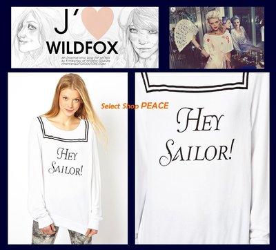 Wildfox Couture 美國【現貨】S號 長袖 T恤 Hey Sailer Baggy Beach