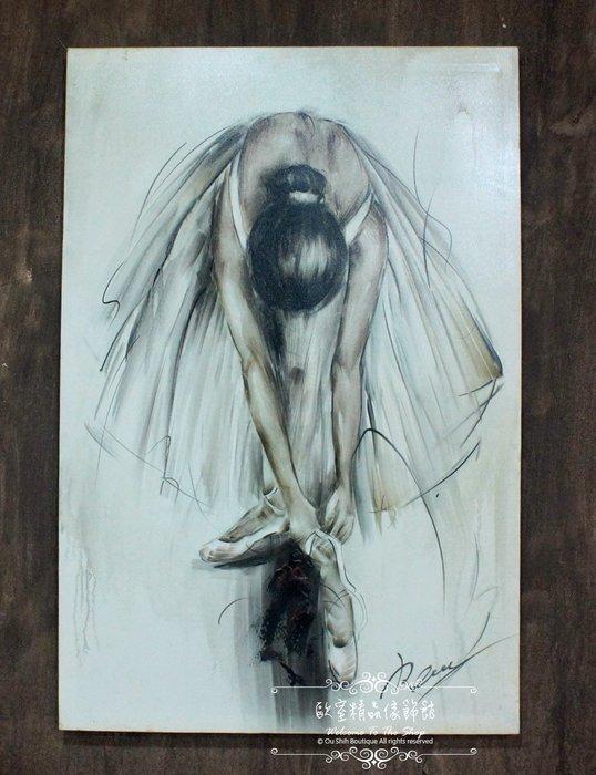 ~*~歐室精品傢飾館~*~鄉村風格 手工 繪製 工筆 油畫 芭蕾 舞者 無框畫 掛畫 掛圖 壁飾~新款上市~優惠免運費~
