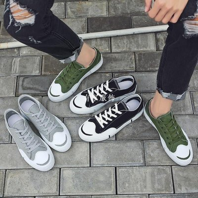 有家服飾夏季帆布鞋男潮流低幫學生鞋子男潮鞋正韓透氣百搭原宿青少年板鞋