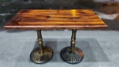 二手家具推薦台中樂居(北)2手傢俱家電買賣西屯館E112602*復古兩腳長桌* 復古桌 兩腳桌 長桌 木紋桌 木面桌