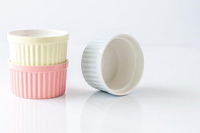 [ Atelier Smile ] 鄉村雜貨 北歐風 馬克龍色 陶瓷烤碗 舒芙蕾 布丁碗 甜點碗 # 大 (現+預)