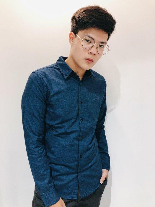 【蟹老闆】100%正品 Hollister HCO 海鷗 小LOGO 素面襯衫 藍色
