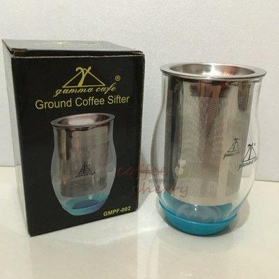 @咖啡櫻桃屋@ Gamma Cafe 玻璃篩粉器 聞香杯 接粉器 附止滑墊 三合一 手沖 虹吸咖啡 專業利器