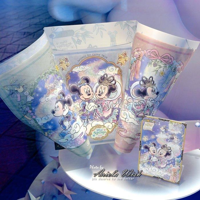 ArielWish日本東京迪士尼2019夏季園遊會花火節七夕情人節米奇米妮銀河牛郎織女A4資料夾檔案夾三層收納袋夾-絕版