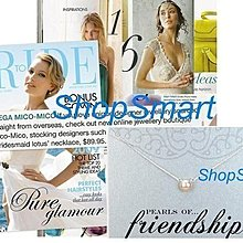 Dogeared 台北ShopSmart直營店 8.5mm大白珍珠925純銀項鍊 日雜推薦生日新娘禮 限量特價品