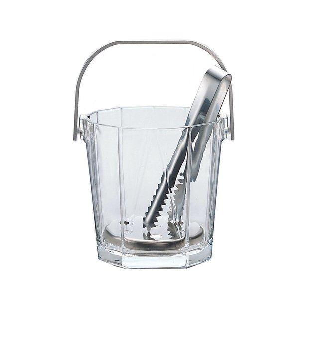 ☘小宅私物☘ ADERIA 日本製亞德利八角形小冰塊桶 900ml (附夾子) 小冰桶 現貨附發票