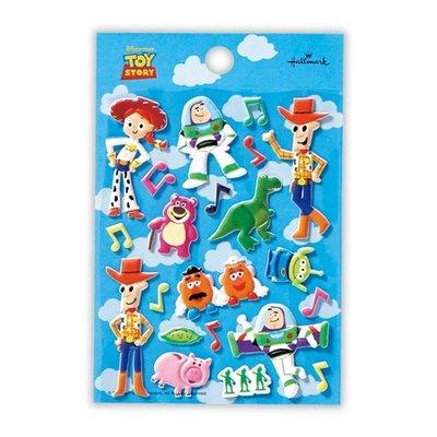 【莫莫日貨】   迪士尼 玩具總動員 胡迪 巴斯 三眼怪 立體泡棉 貼紙 手帳貼 拍立得 39539