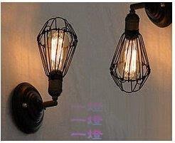 「一燈」kc灯具loft爱迪生壁灯 美式咖啡厅壁灯 工业复古怀旧铁艺壁灯y_d*3184