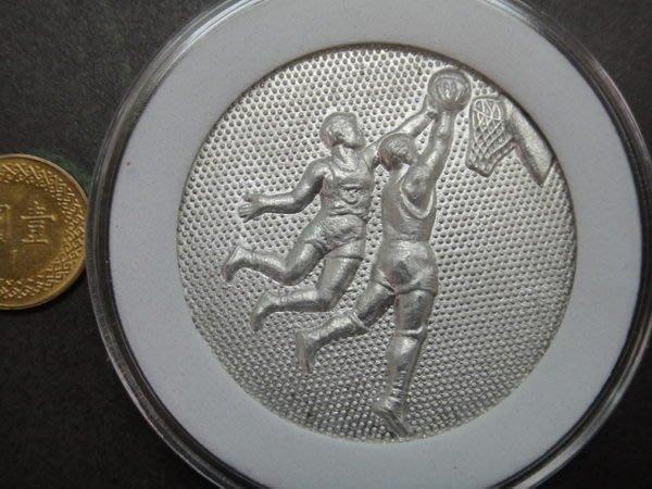 ☆承妘屋☆男子籃球灌籃運動立體鋁章紀念章紀念牌~34