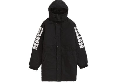 【美國鞋校】 預購  Supreme FW18 Sleeve Logo Sideline Parka 3色 大衣
