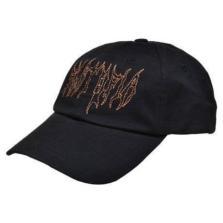 { POISON } SKATOPIA METAL CAP 結合金屬樂團的LOGO 鎖鏈車風格刺繡 彎延老帽