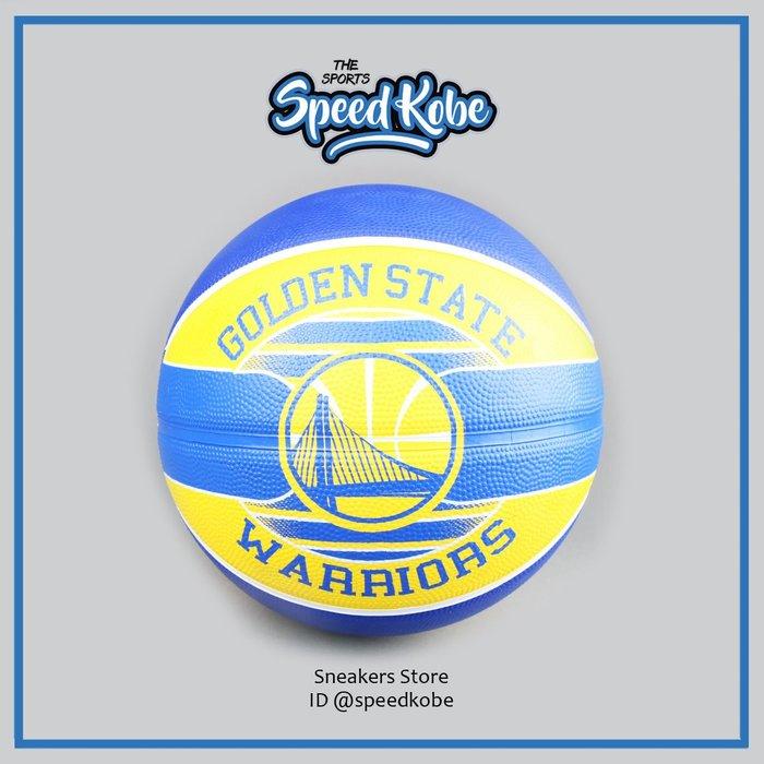 SPALDING 斯伯丁籃球 隊徽球 新款 室外 勇士 SPA83515 -speedkobe-
