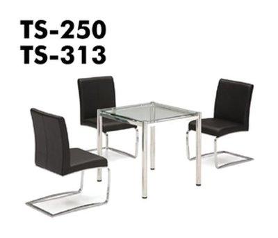 TS250洽談椅(不鏽鋼)(半牛皮)