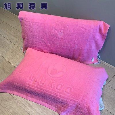 【旭興寢具】LIUKOO煙斗牌 純棉壓花枕頭巾一組2入 台灣製造