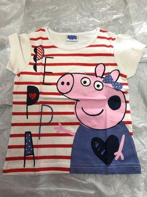 kitty house (777) 童裝 女孩 peppa pig 紅間 純棉 短袖 T-shirt T恤 夏款 特價$58包郵