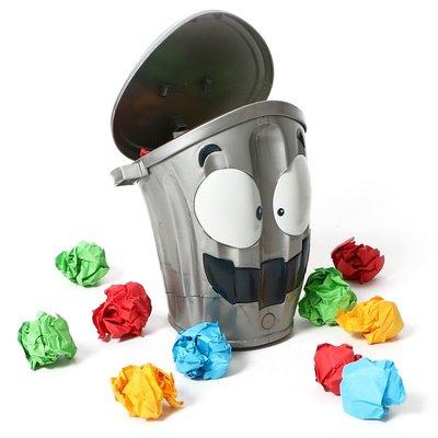 電動瘋狂垃圾桶 室內競技投籃遊戲(LOONY BIN)減壓垃圾桶玩具っ頌茗坊
