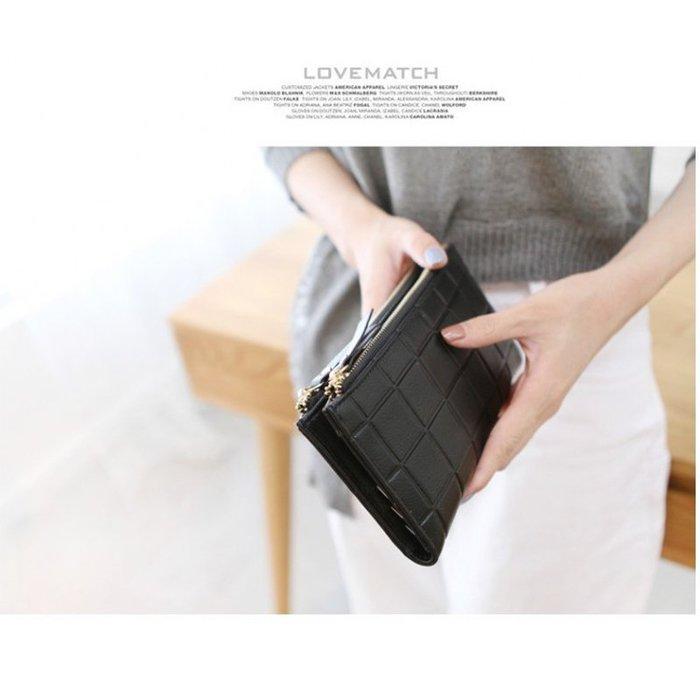 韓國連線 方格 長夾 錢包 零錢包 皮夾 手拿包 包包 韓妞 女包 手機包 韓妞 中夾 短夾 小包 錢夾 正韓 錢包