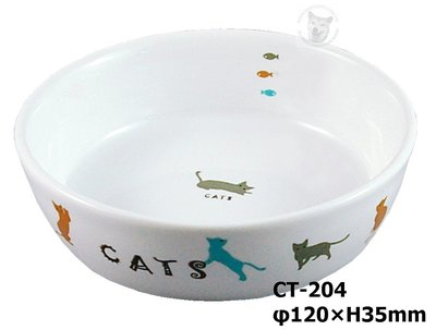 MARUKAN 犬貓貂兔鼠 彩繪圓型陶瓷食盆 碗碟 寵物食皿 飲水器 給水盆 CT-204(φ12公分)每件259元