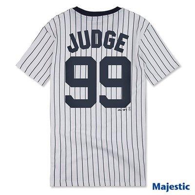 新莊新太陽 MLB 大聯盟 6730299-025 紐約 洋基 Aaron Judge 99號 T恤 條紋 特880