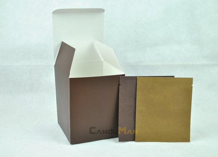 DBC302 深咖啡 霧面 全空白 掛耳咖啡外盒 質感好 有硬度 可裝10包濾泡式掛耳咖啡袋 20入