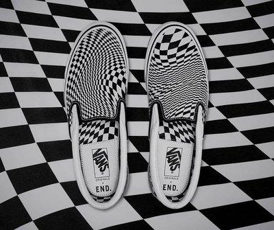 R'代購 END VANS OG CLASSIC SLIP ON LX VERTIGO 扭曲 棋盤格 懶人鞋 幾何 男女