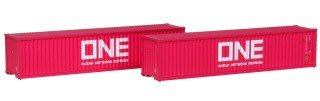 [玩具共和國] KATO 80055E ONE 40フィートコンテナ (マゼンタ) 2個入