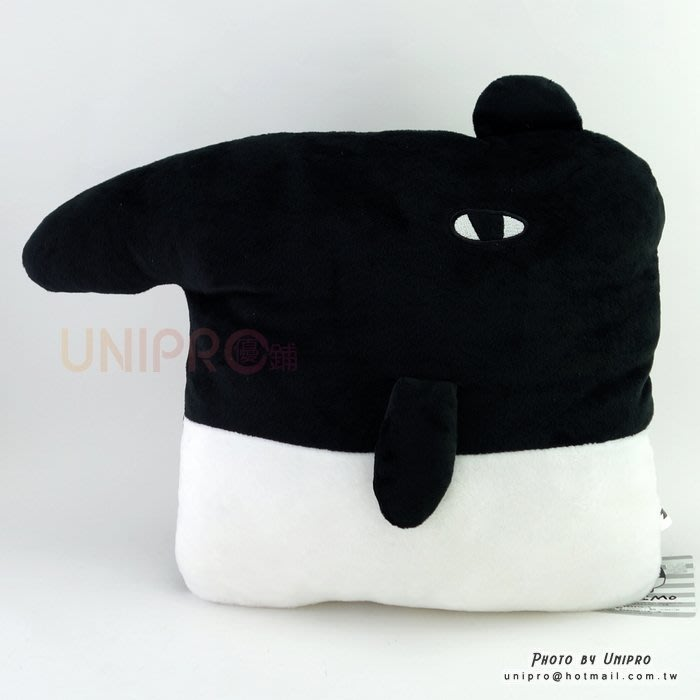 【UNIPRO】馬來貘 LAIMO 方形暖手枕 安靜來貘 絨毛玩偶 娃娃 抱枕 靠枕 午安枕 Cherng