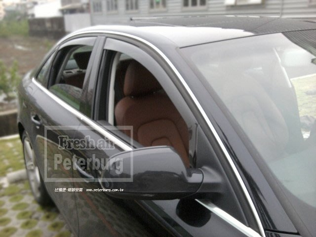 比德堡崁入式晴雨窗 嵌入式晴雨窗 奧迪AUDI A4 B8/8K 2008-2016專用賣場多種車款(全車四片價)