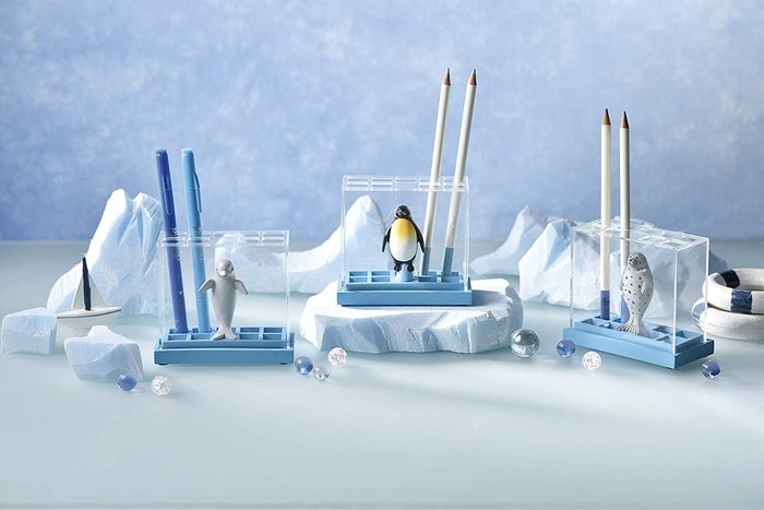 【beibai不錯買】日系雜貨 zakka 日本進口 動物筆筒 水族館文具架