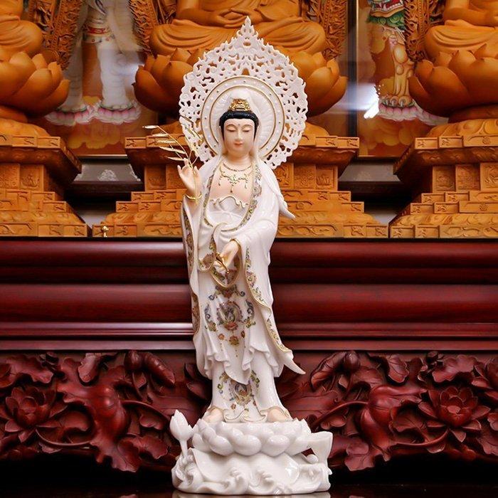【玉寶軒】漢白玉佛像 西方三聖 南無觀世音菩薩 觀音菩薩 法像莊嚴(GA-3102)