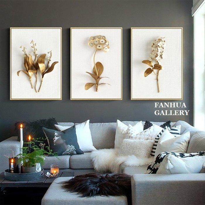 C - R - A - Z - Y - T - O - W - N 高貴金枝玉葉白色花卉掛畫時尚花朵奢華高檔裝飾畫大幅掛畫酒店玄關客廳壁畫軟裝空間設計師款掛畫